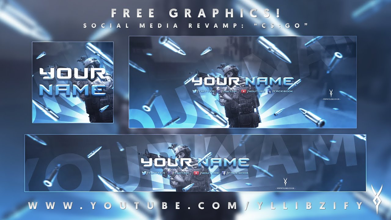 free graphics social media revamp csgo photoshop template by yllibzify 2016 youtube