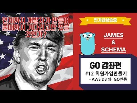 [IT 강좌] Go 언어 강좌 #12 - 회원가입만들기 | AWS DB 와 GO연동