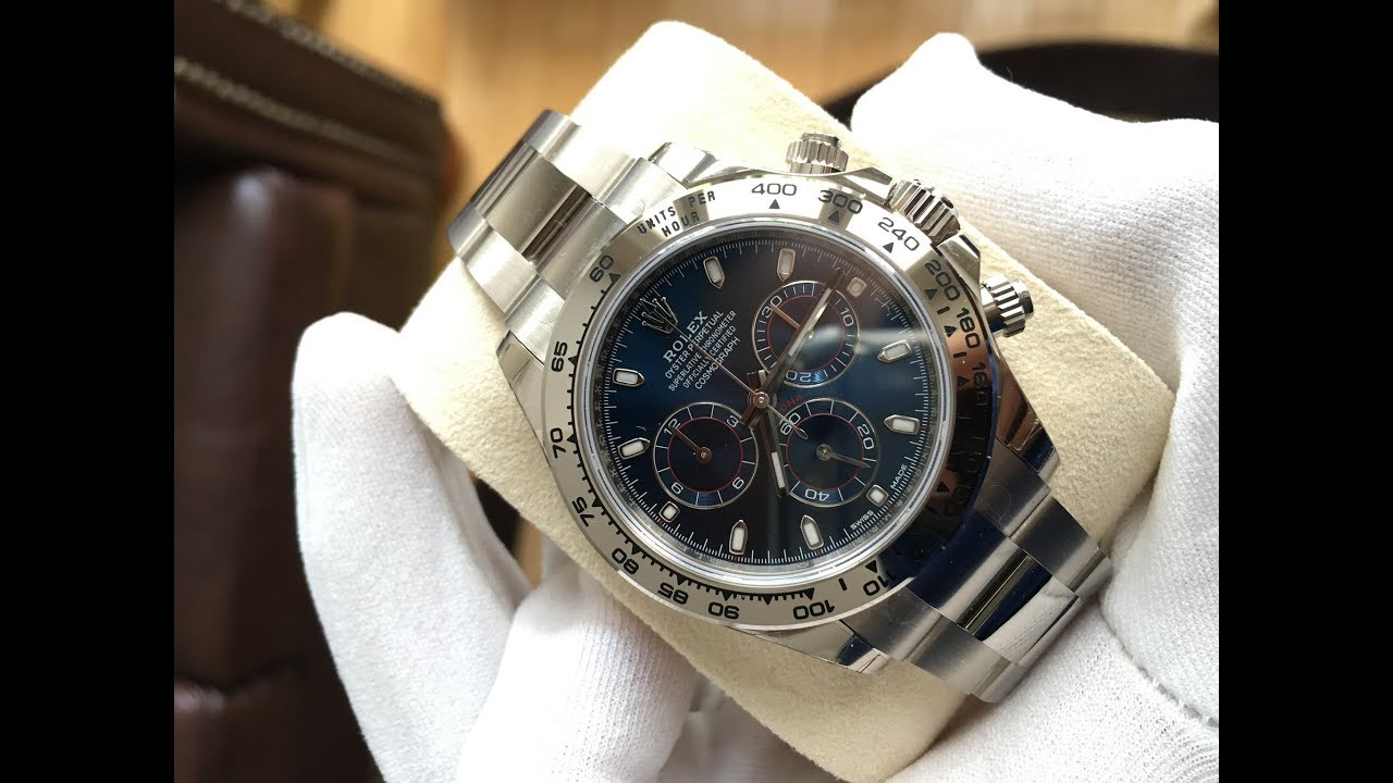 Rolex Daytona 116509 Blue Dial 40 mm white gold swiss made luxury watch  Unboxing