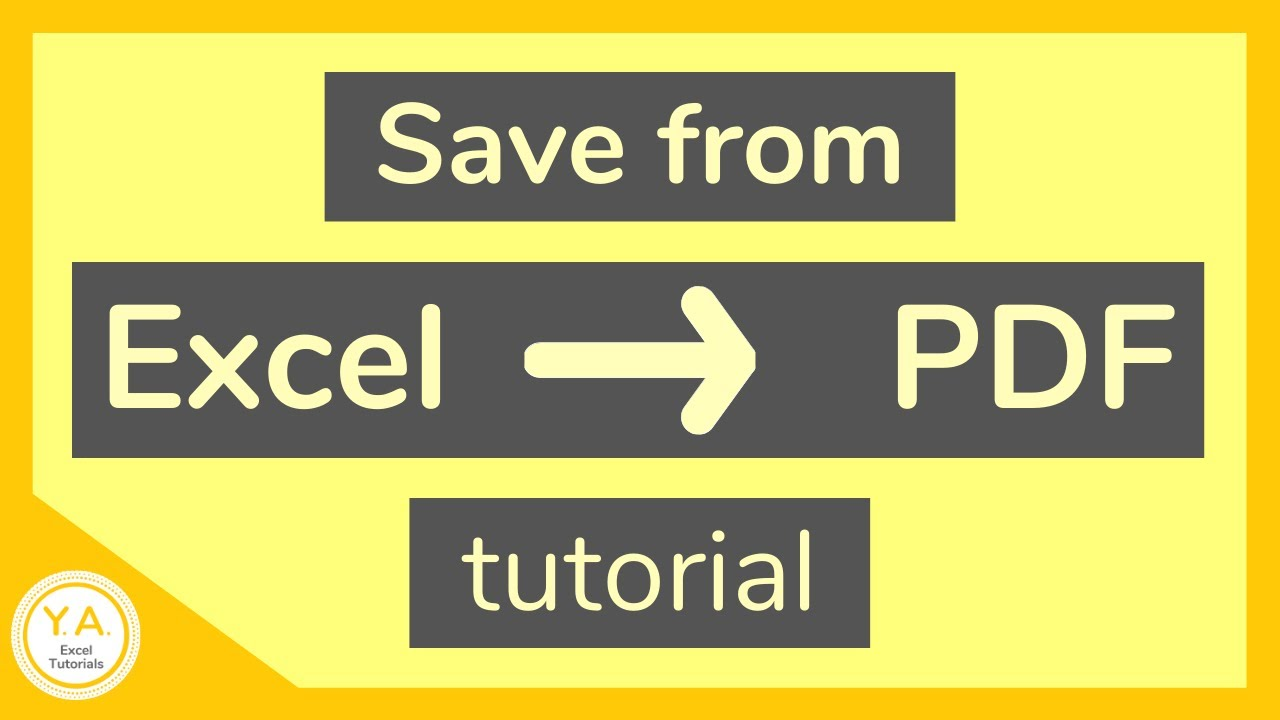 How to Save an Excel File as PDF – Tutorial