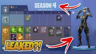 Fortnite Saison 4 Skins 'NOUVEAU ' Articles LEAKED? - Fortnite Saison 4 Battle Pass ( Bataille Royale
