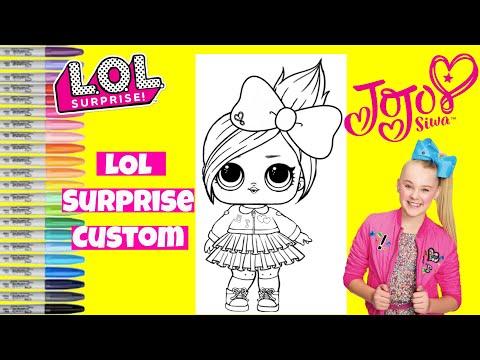 Custom LOL Surprise Doll Jojo Siwa LOL Surprise Coloring Book Page
