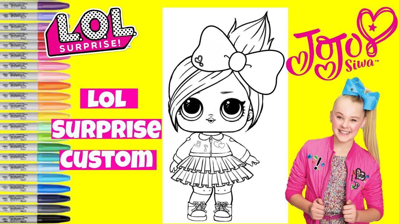 Custom Lol Surprise Doll Jojo Siwa Lol Surprise Coloring