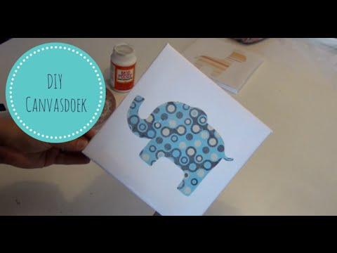 Bekend DIY Canvas (voor de babykamer) - MamaKletst - YouTube &WL94