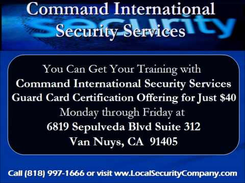 Security Guard Card In California Command International Security
