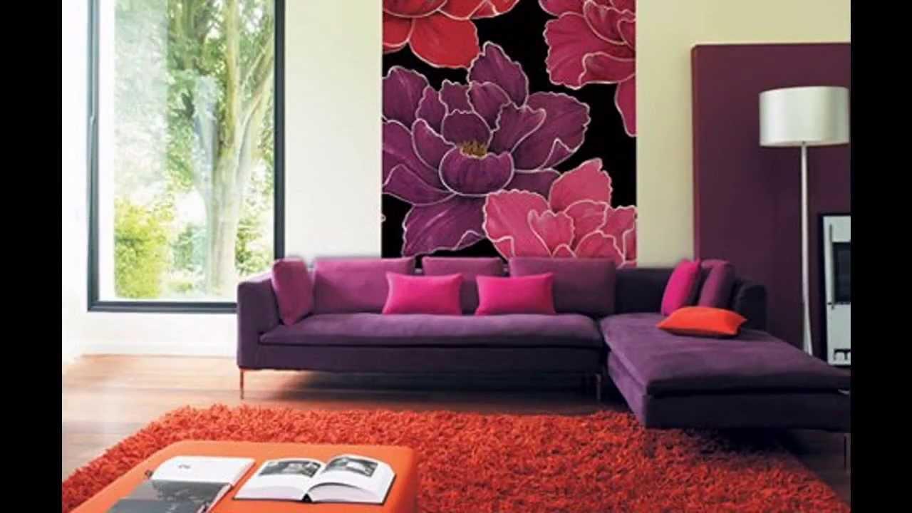 Charming Exotic Purple Living Room Decorating Ideas
