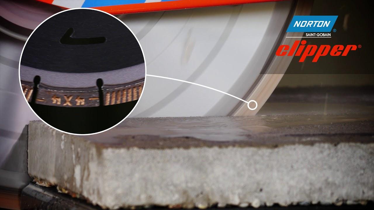Norton Clipper Cm42 Masonry Saw For Cutting Bricks And Pebble Dash Youtube