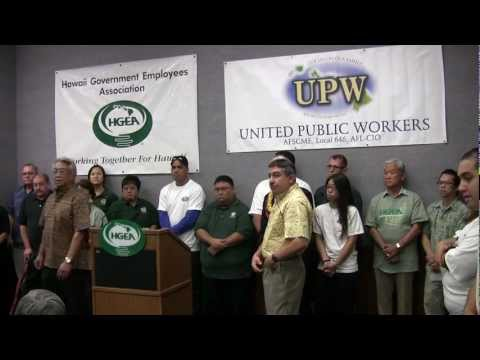 HGEA and UPW announce their endorsement of Kirk Caldwell for Honolulu Mayor