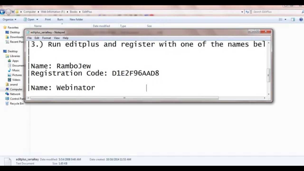 editplus 5.1 license key