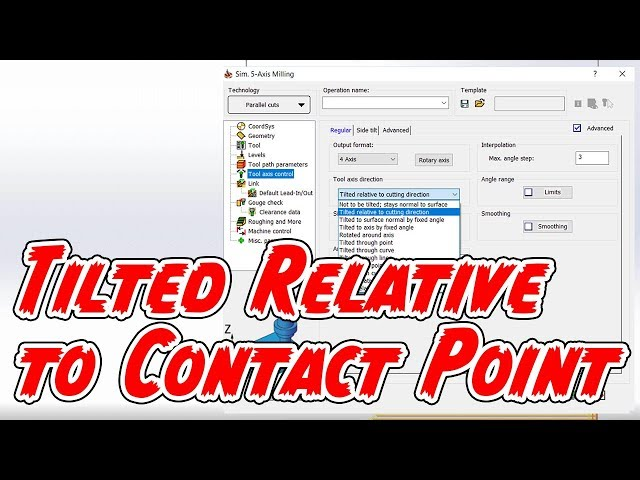 Tilted Relative to Contact Point