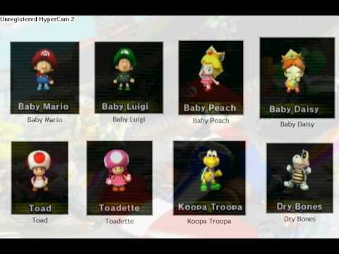 Mario Kart Wii Characters And How To Unlock Youtube