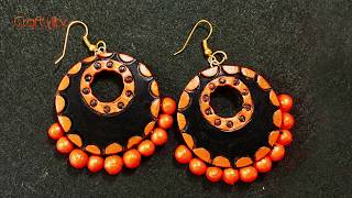 How to make Easy Terracotta Earrings without any tools | Terracotta Jewellery Making for Beginners