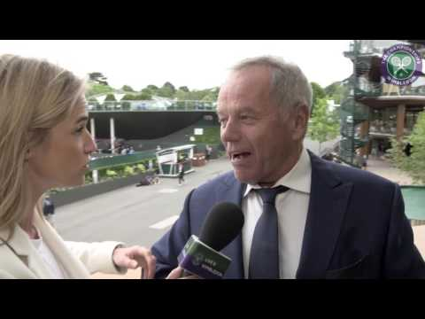 #wimblewatch with celebrity chef Wolfgang Puck