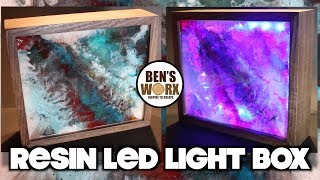 How to make a resin art light box