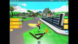 Playing saber sim on roblox!!! really fun buying a new saber