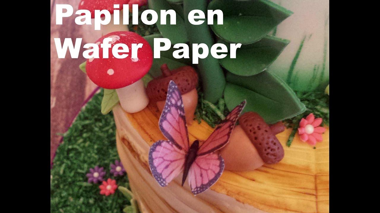 Tutoriel Papillons En Wafer Paper Youtube