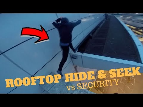 ROOFTOP HIDE AND SEEK Vs SECURITY! *ESCAPE*