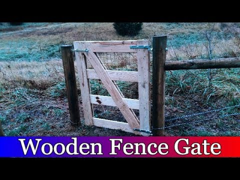 Wooden Gate for the Barnyard Fence