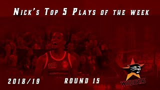 Top 5 plays of the week for round 15, 2018/19 Season