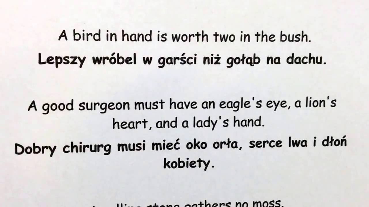 Polish Sayings