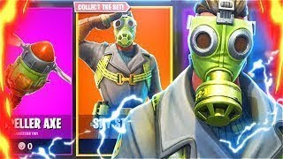 'NOUVEAU' PROPELLER AXE SOUND - SKY STALKER FORTNITE SKIN REVIEW