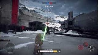 Star Wars Battlefront 2- Yoda vs Palpatine | BEST 1v1 EVER | Hero Showdown