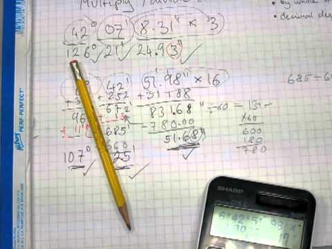 Multiply And Divide Deg Min Sec Convert D M S To Decimal Degrees