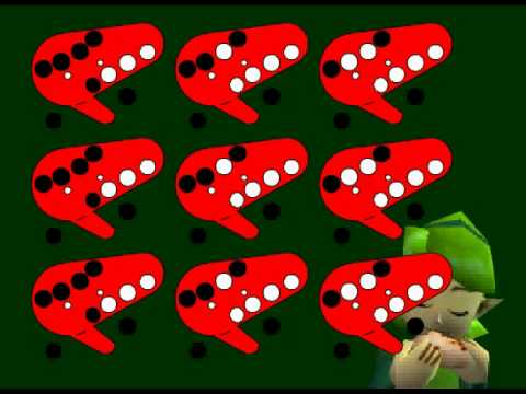 Saria's song / Lost Woods ocarina tutorial