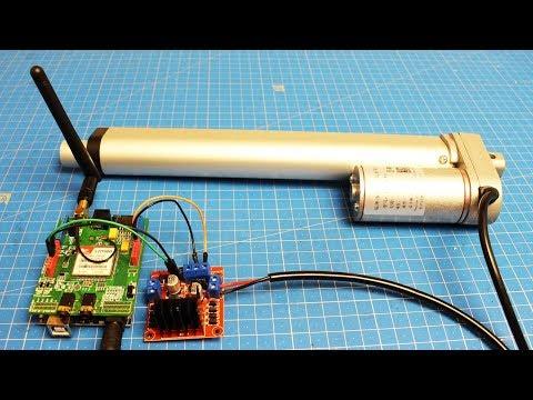 Управляем двигателем отправляя СМС (Arduino + SIM900+Линейный актуатор)