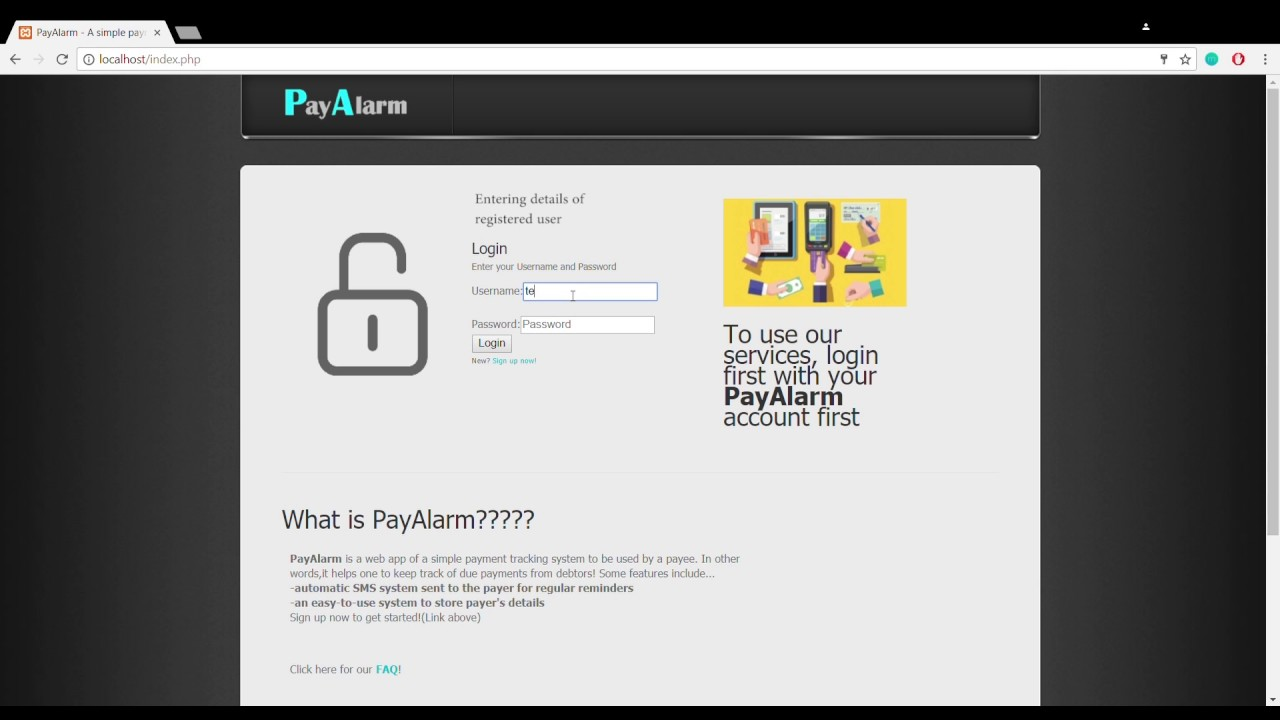 payalarm a simple payment tracking system youtube