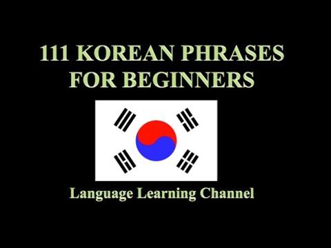 Korean Phrases For Beginners