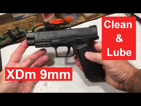 How to Clean a Springfield XDm 9mm semiautomatic pistol.