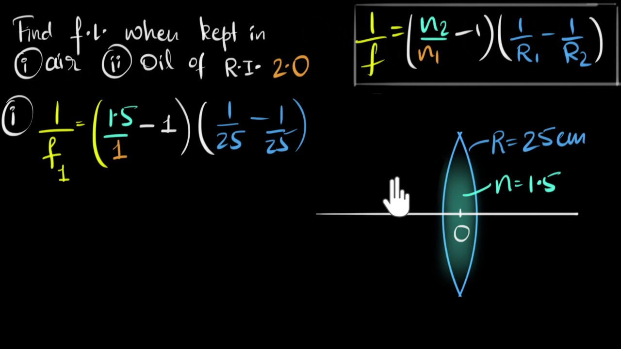 Solved Example Lens Makers Formula Video Khan Academy