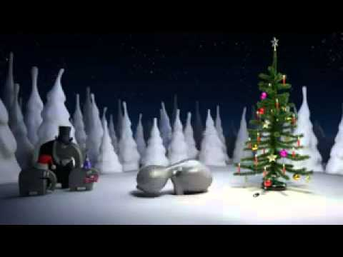 Elefant brennender weihnachtsbaum
