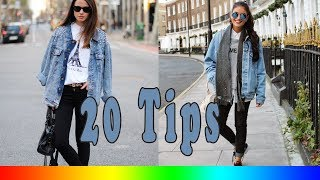 20 Style Tips On How To Wear Oversized Denim Jackets