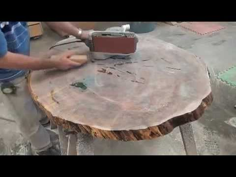 Maple table top epoxy resina 2 youtube for Resina epoxi madera