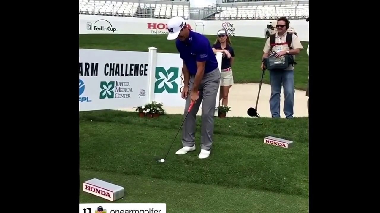 Challenging Billy Horschel to my One Arm Challenge at The Honda ...