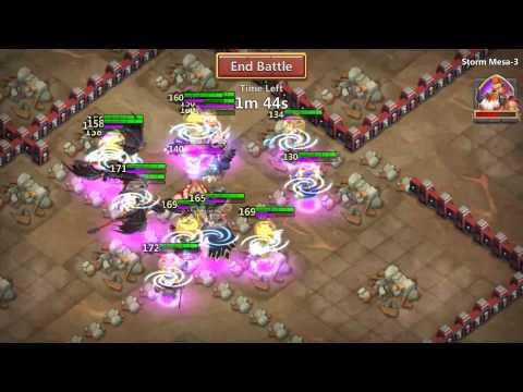 Castle Clash - Storm Mesa 3 After The Crest Update
