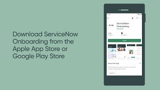 Describes getting started with mobile onboarding, and shows a demo of new hire using the servicenow onboarding app. this video applies to ui16, ...