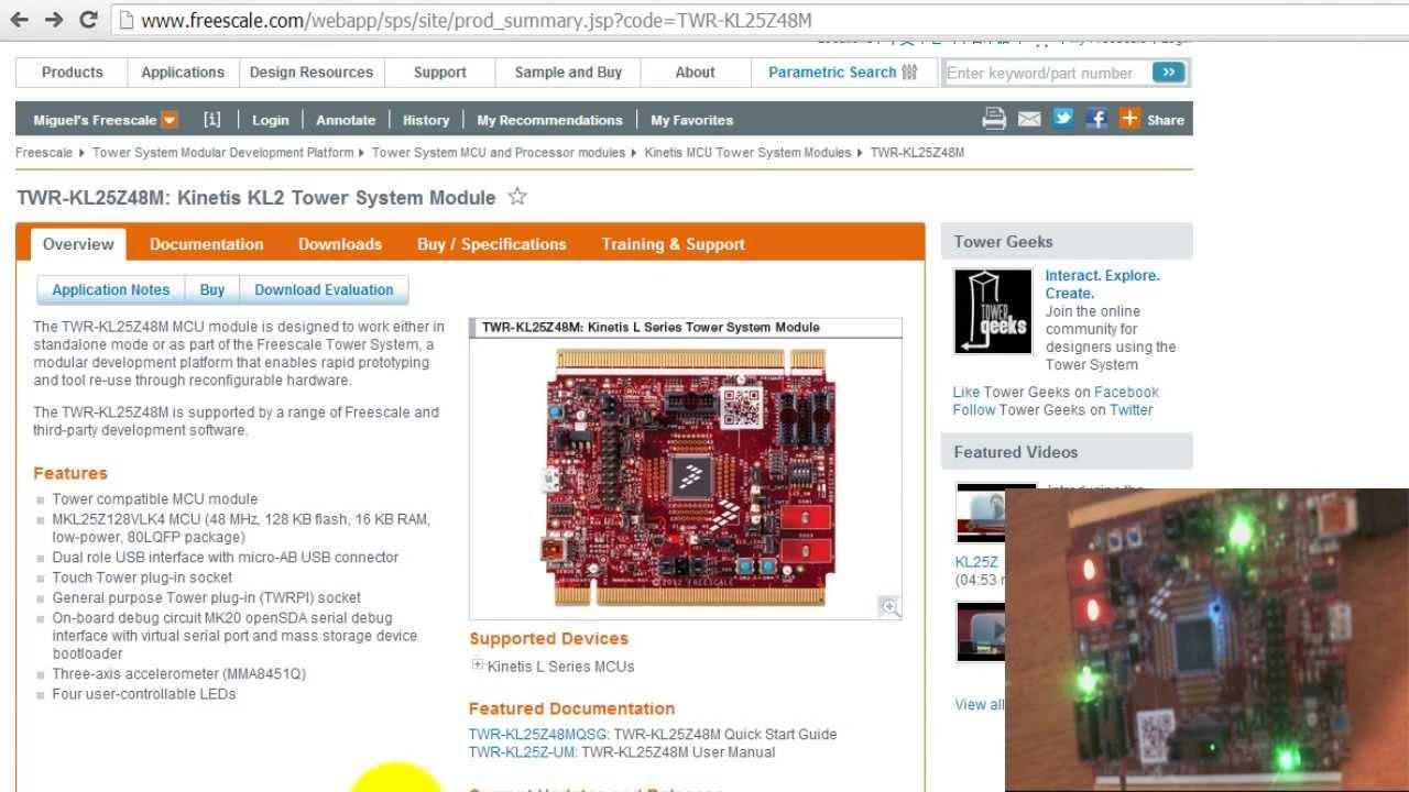 MQX Lite RTOS Tutorial for TWR KL25Z48M Kit - Blink the LEDs Using Tasks