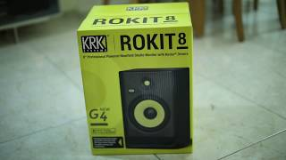 KRK ROKIT RP8 G4 (Generation 4) unboxing and quick test
