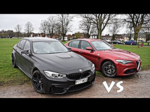 MY BMW M3 vs ALFA ROMEO GIULIA QUADRIFOGLIO!!
