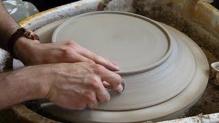Trimming a Large Platter - Matt Horne Pottery
