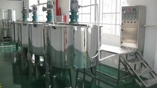 500L Stainless steel blending tanks with electric rods heating system sold to Bolivia