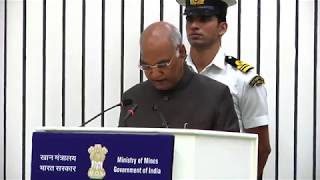 President Kovind addresses at the presentation of the National Geoscience Awards 2017
