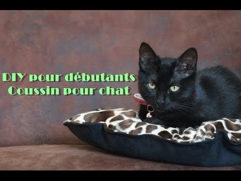 diy coussin pour chat couture pour d butant youtube. Black Bedroom Furniture Sets. Home Design Ideas