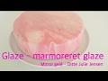 Mirror glaze - marmoreret glaze - How To glaze - Ditte Julie Jensen