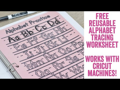 DIY Alphabet, Numbers, And Shapes Reusable Tracing Board Made On Your Cricut: Free SVG Included