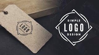شعار بسيط التصميم التعليمي مع GIMP