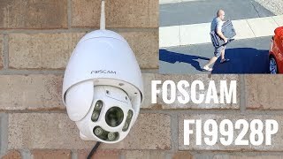 Someone stole my TV! Foscam FI9928P Security Camera REVIEW